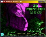 3D Monster Maze Windows Title screen.