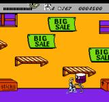 Wayne's World NES Garth encounters a few poorly designed enemies in the music store, such as drums or hi-hats.