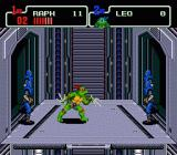 Teenage Mutant Ninja Turtles: The HyperStone Heist Genesis and on the elevator