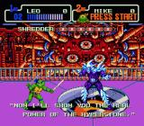 Teenage Mutant Ninja Turtles: The Hyperstone Heist Genesis Shredder's threats..