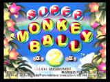 Super Monkey Ball 2 GameCube Title screen