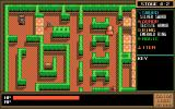 Gaias Lord PC-98 Your typical dungeon room with crates to push and enemies to fight