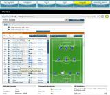 Championship Manager Online Browser Tactics screen