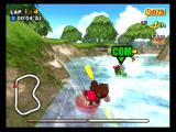 Super Monkey Ball 2 GameCube A monkey race on the river