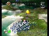 Pikmin GameCube Pikmin getting ready to fight a hopping frog