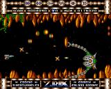 Ziriax Amiga Boss battle in the middle of level 2.