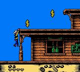 Lucky Luke: Desperado Train Game Boy Color Climbing another ledge