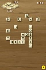 Bananagrams iPhone Single player gameplay screen
