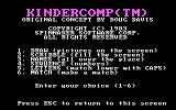 KinderComp PC Booter Title screen
