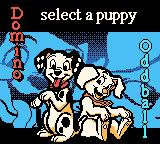 Disney's 102 Dalmatians: Puppies to the Rescue Game Boy Color Select which puppy you will play as.