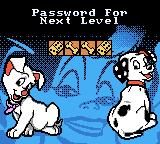 Disney's 102 Dalmatians: Puppies to the Rescue Game Boy Color The password to continue.