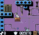 Disney's 102 Dalmatians: Puppies to the Rescue Game Boy Color K9 has learned to shoot in this level.