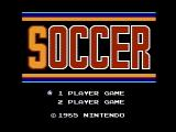 Soccer NES Title screen