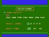 Soccer NES Game options