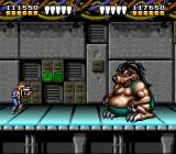 Battletoads & Double Dragon: The Ultimate Team SNES Level 2 boss -- a rather obese rat