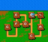 Chip 'N Dale: Rescue Rangers NES The overall map
