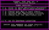 Mystery Master: Felony! DOS What would you like to do here? (CGA)