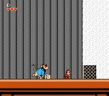 Disney's Chip 'n Dale: Rescue Rangers NES Discovering cheese which will lure Monty who will bust through the gate with his sheer size