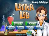 Letter Lab Windows Title screen and main menu