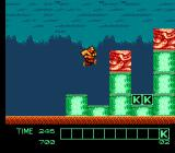 Karnov NES Stage 2, fighting statues