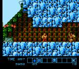 Karnov NES Ducking into a warm cave