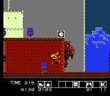 Karnov NES Large faces plague the temple as well