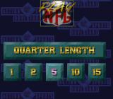 NFL Quarterback Club SNES Quarter lengths