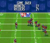 NFL Quarterback Club SNES Game over