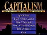 Capitalism DOS Main menu