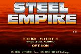 The Steel Empire Game Boy Advance Title screen (English version)