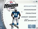 Madden NFL 2002 Windows Menu
