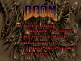 DOOM PlayStation PSX main menu