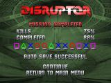 Disruptor PlayStation Level statistics and password
