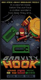 Gravity Hook Browser Title screen.