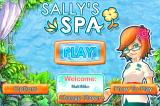 Sally's Spa iPhone Title screen and main menu