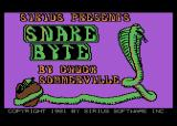 Snake Byte Atari 8-bit Title screen and credits