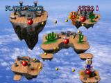 Bomberman World PlayStation Planet Wind level selection screen