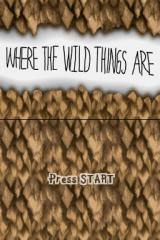 Where the Wild Things Are Nintendo DS The game's title screen.