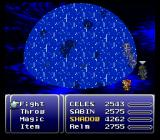 Final Fantasy III SNES Relm is casting Ultima, the most powerful spell of the game