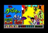 Mystery of the Nile Amstrad CPC Title screen (Spanish version)