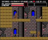Vampire Killer MSX Stage 4: those knights demand more hits to kill.