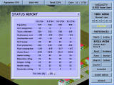 Build City Windows Real time statistics; this dialog also controls the taxation rate