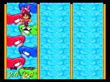 Bishi Bashi Special PlayStation Jump the sharks to get to the safe island using the button with the corresponding color.