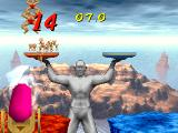 Bishi Bashi Special PlayStation Launch the body builders onto the trays the huge jumping statue is holding using your pretty pink cannon.