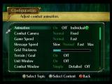 Fire Emblem: Path of Radiance GameCube The configuration screen
