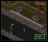 Shadowrun SNES Shooting snipers on the streets