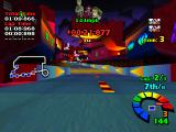 Motor Toon Grand Prix PlayStation First-person view