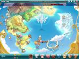 Fantasy Tennis Windows Single play: the world map, here you can unlock many different levels.