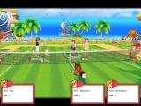 Fantasy Tennis Windows Guardian battle mode: three battle-hardened players and one pet versus Sikaro, the deadly whatever.