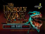 The Unholy War PlayStation Title screen